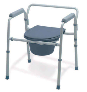 Folding 3-In-1 Commode-Steel