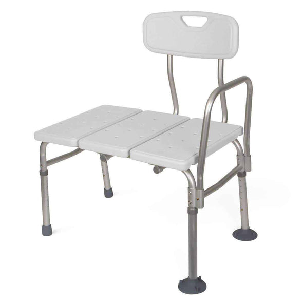 Medline Unpadded Shower Transfer Bench with Suction Cup Tips - Senior.com Transfer Equipment