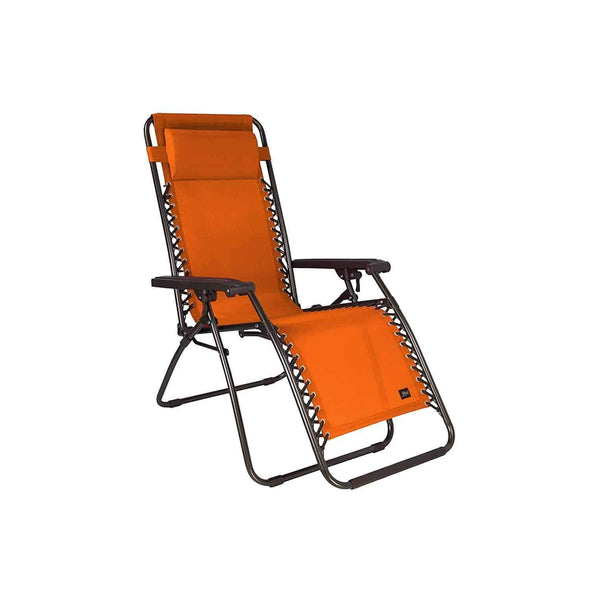 "Bliss 26"" Wide Gravity Free Recliner Outdoor Folding Chairs w/ Pillow - Senior.com Outdoor Chairs"