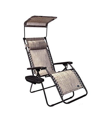 "Bliss 26"" Wide Gravity Free Recliner w/ Canopy, Pillow, & Drink Tray"