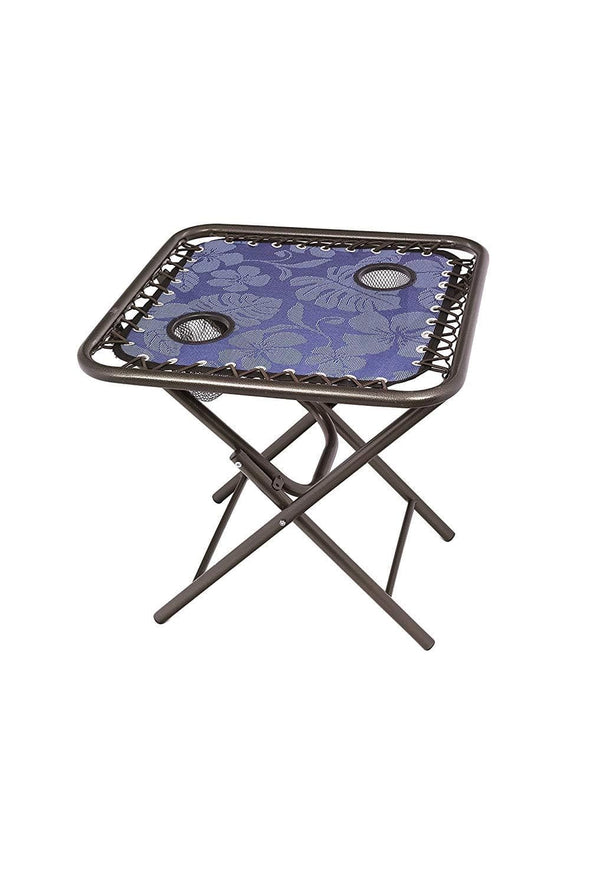 Bliss Foldable Side Table w/ 2 Cup Holders
