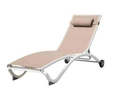 Vivere Glendale Adjustable Aluminum Outdoor Loungers - Senior.com Outdoor Chairs