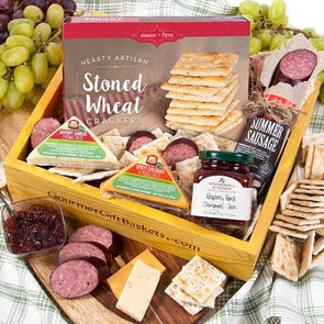 Gouremt Gift Baskets Fathers Day Meat & Cheese Food Basket - Senior.com Gift Baskets