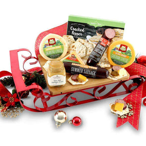 Gourmet Gift Baskets Gourmet Holiday Sleigh Christmas Gift Basket - Senior.com Gift Baskets