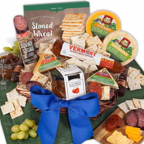 Gourmet Gift Baskets Gourmet Meat & Cheese Sampler - Deluxe - Senior.com Gift Baskets