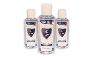 Epicure Gel Hand Sanitizer - 2 oz Travel Bottles - 75% Alcohol - Senior.com Hand Sanitizers