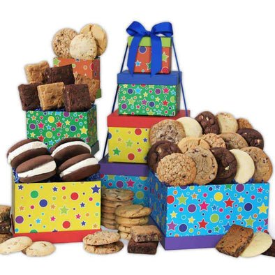 Gourmet Gift Baskets Happy Birthday Baked Goods Tower