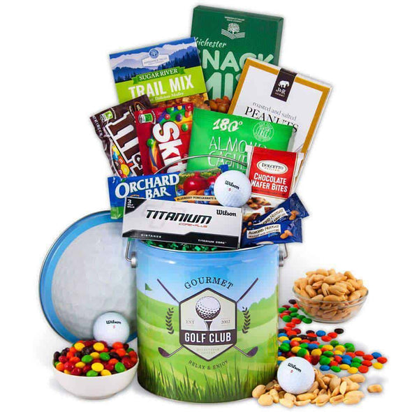 Gourmet Gift Baskets Hitting The Range - Golf Gift - Senior.com Gift Baskets