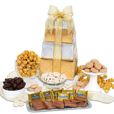 Gourmet Gift Baskets Holiday Gift Tower - Senior.com Gift Baskets