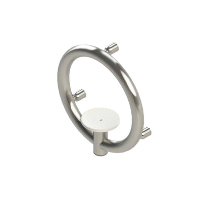 Invisia Modern Soap Dish with Safety Fall Prevention Grab Ring - 500 lb Cap - Senior.com Grab Bars & Safety Rails