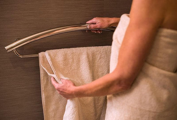 Invisia Sleek Towel Bar & Fall Prevention Grab Bar - 500 lb Weight Capacity - Senior.com Towel Bars