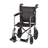 "Nova Medical 20"" Lightweight Folding Transport Chair with 12"" Rear Wheels & Hand Brakes - Senior.com Transport Chairs"