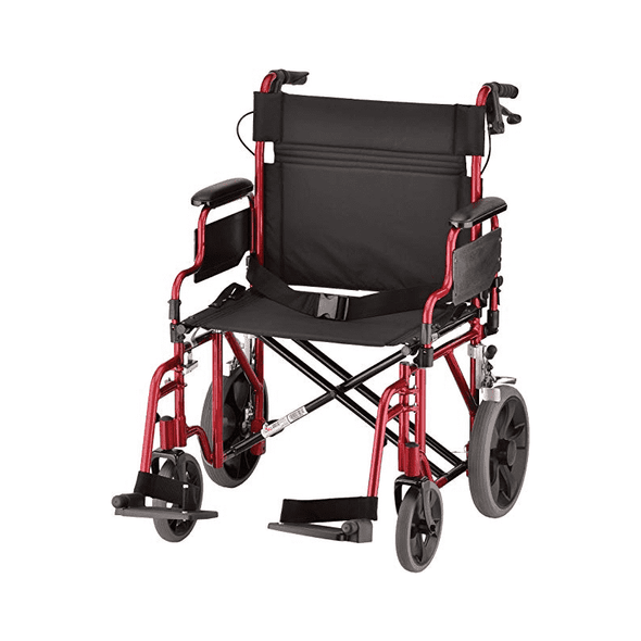 "Nova Medical Heavy Duty Bariatric Transport Folding Chairs - Extra Wide 22"" Seat - Senior.com Transport Chairs"