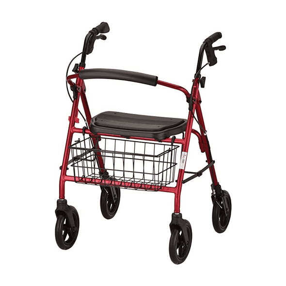 Nova Medical Mack Heavy Duty Bariatric Rollators - 400 lb Weight Capacity - Senior.com Rollators