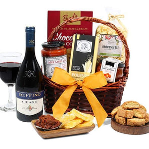 Gourmet Gift Basket Italian Dinner For Dad - Senior.com Gift Baskets