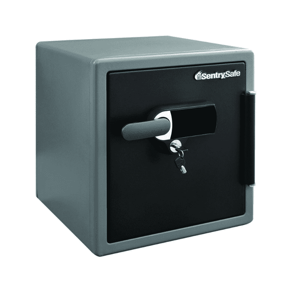 SentrySafe Fire and Water Touchscreen Safe with Dual Key Lock, Alarm, & Tray