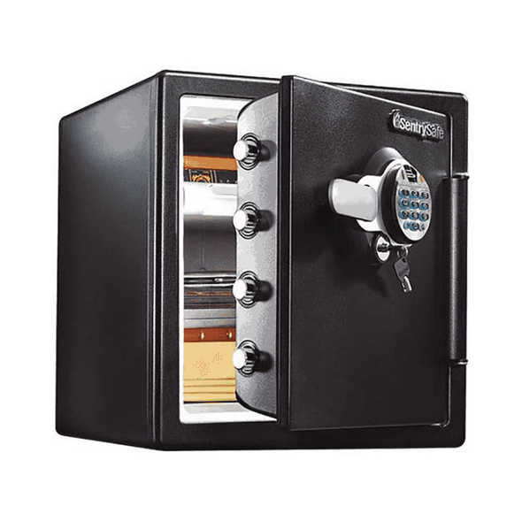SentrySafe Biometric Fingerprint & Electronic Keypad Fire and Water-Resistant Safe 1.23 cu. ft. - Senior.com Security Safes
