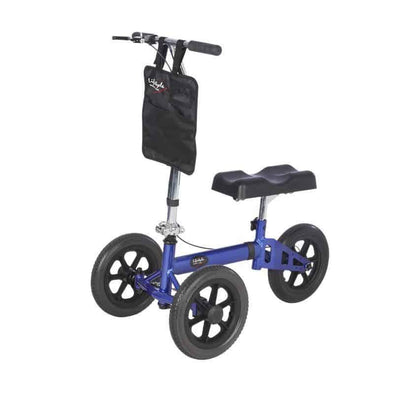 "Lifestyle Mobility Aids Lightweight Folding Knee Walker with XL 12"" Wheels - Senior.com Knee Walkers"