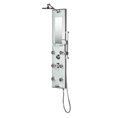 Pulse Shower Spa Kihei II Luxury System with Silver Glass and Chrome Hardware - Senior.com Shower Systems