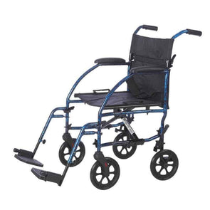 "Lifestyle Mobility Aids 19"" Deluxe Ultra Compact Folding Aluminum Companion Transport Chair - Senior.com Transport Chairs"