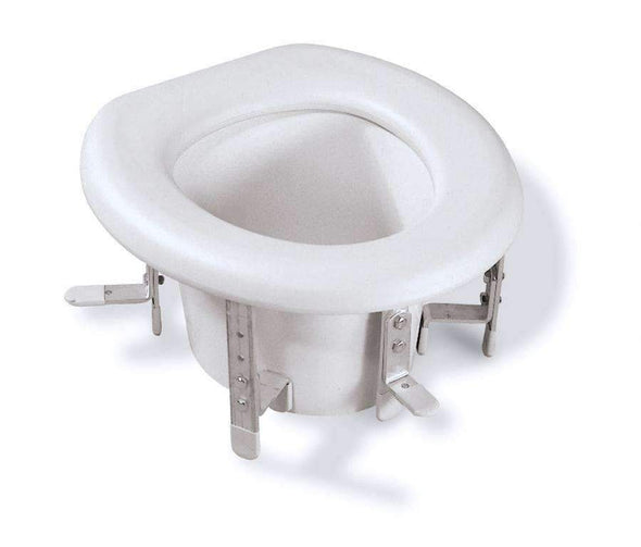 Medline Universal Raised Toilet Seat with Adjustable Brackets - Senior.com Raised Toilet Seats
