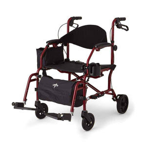 Medline Deluxe Hybrid Combination Rollator & Transport Chairs - Senior.com Rollators