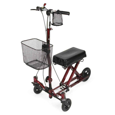 Medline Generation 2 Weil Knee Walker - Burgundy - Senior.com walkers