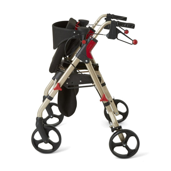 "Medline Premium Empower Folding Mobility Rollator Walker with 8"" Wheels - Senior.com Rollators"
