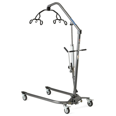 Medline Manual Hydraulic Patient Lift with 6 Point Cradle - Senior.com Patient Lifts