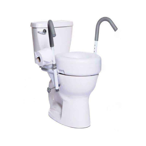 "MOBB Healthcare Ultimate 5"" Raised Toilet Seat and Safety Frame Combo Package - Senior.com Grab Bars & Safety Rails"