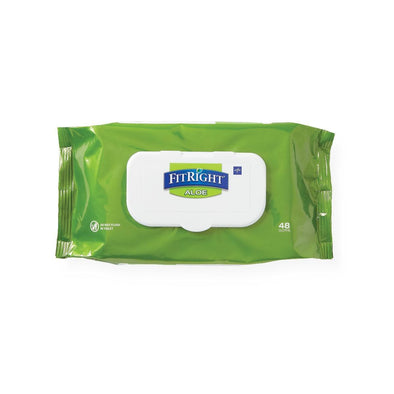 FitRight AloeTouch Aloe Personal Cleansing Cloth Wipes - Scented 8 x 12 inch Large Incontinence Wipes - Senior.com Cleansing Wipes