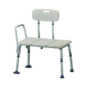 NOVA Medical Portable Bath Transfer Bench - White - Senior.com Transfer Equipment