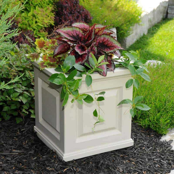 "Mayne Nantucket Collection Square Planters - 16"" x 16"" - Senior.com Planters"