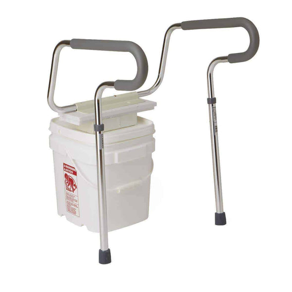 Medline Bathroom Foldable Toilet Safety Frame Rails - Senior.com Grab Bars & Safety Rails