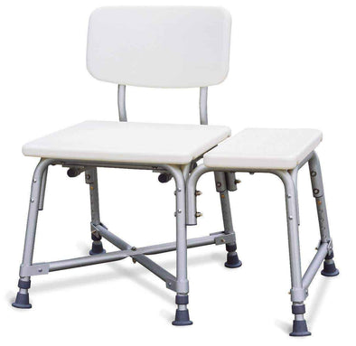 Medline Non-Padded Bariatric Transfer Shower Bench - Senior.com Shower Benches
