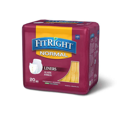 FitRight Incontinence Liners for Adults - 13 x 30 Case of 80 - Senior.com Incontinence