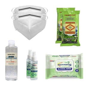Deluxe Personal Protection Bundle - All Of The Essentials - Free 2 Day Delivery - Senior.com PPE Kits