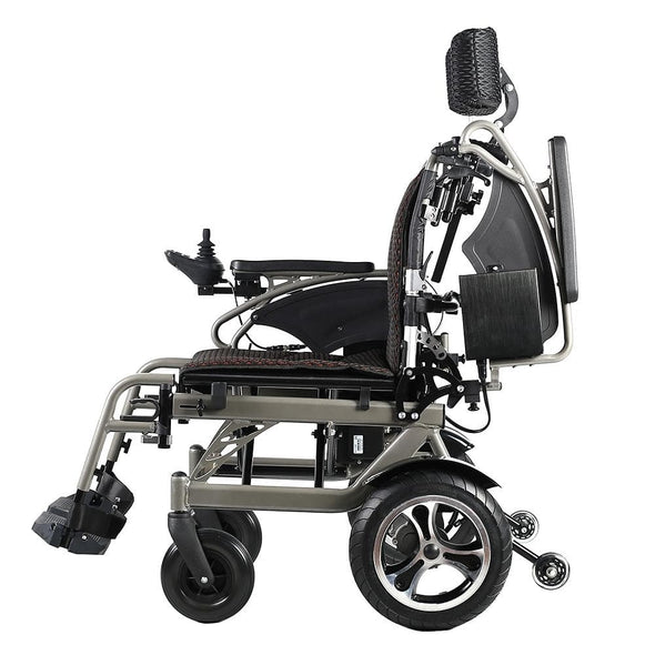 Foldawheel Lightweight Reclinable Power Wheelchair with 10 Mile Range - Senior.com Power Chairs