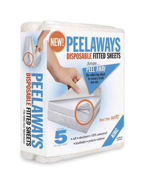 Peelaways Disposable Fitted Mattress Sheets - 5 Disposable Layers