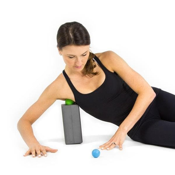RAD Block I Foam Yoga Block in Gray with Storage for Myofascial Release, Self Massage, Mobility and Recovery