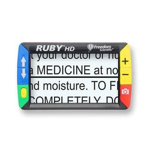 Freedom Scientific Ruby HD Portable Low Vision Video Magnifier - Senior.com Vision Enhancers