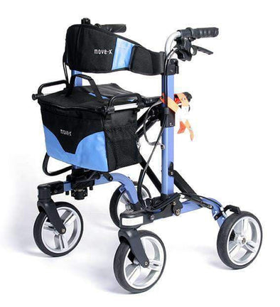 EV Rider MOVE-X Deluxe 4-Wheel Folding Rollator Walker - Light Weight