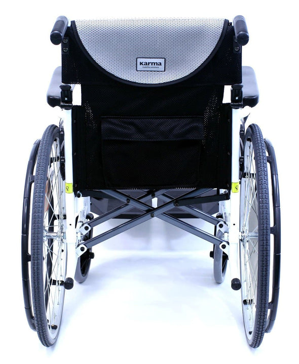 Karman Healthcare S-Ergo Alpine White Limited Edition Ultralight Wheelchair - Senior.com Wheelchairs