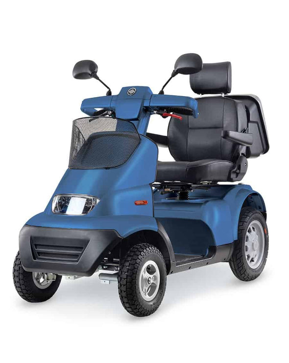 Afikim Afiscooter Breeze S 4-Wheel Bariatric Scooters - Optional Canopy blue