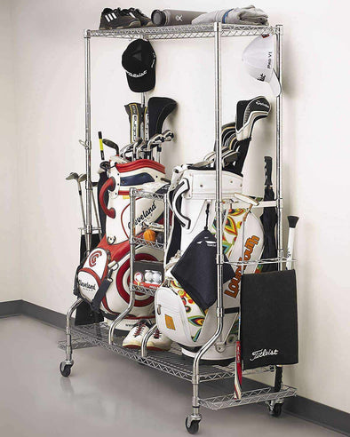 SafeRacks - Golf Equipment Organizer & Storage Rack - Senior.com Golf Storage