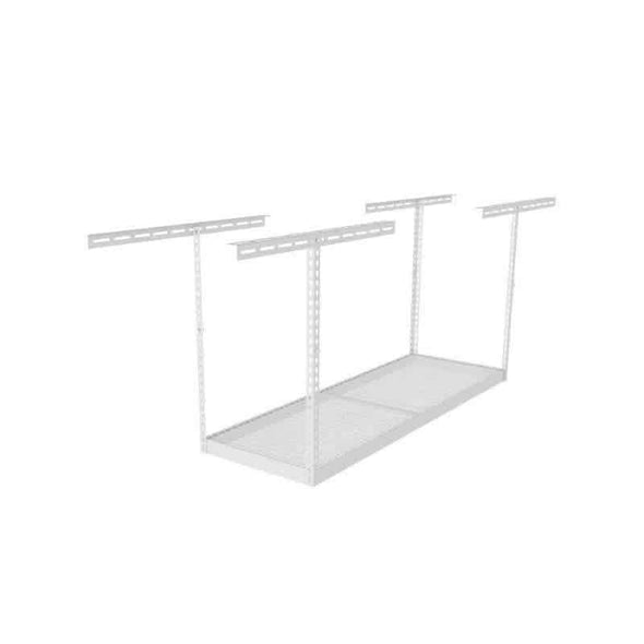 Saferacks – 3×8 Overhead Garage Storage Rack – White - Senior.com Storage Racks