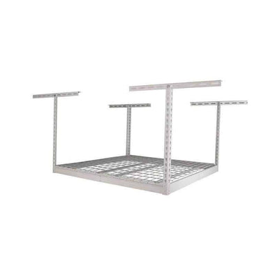Saferacks 4×4 Overhead Garage Storage Rack White For Home Improvement