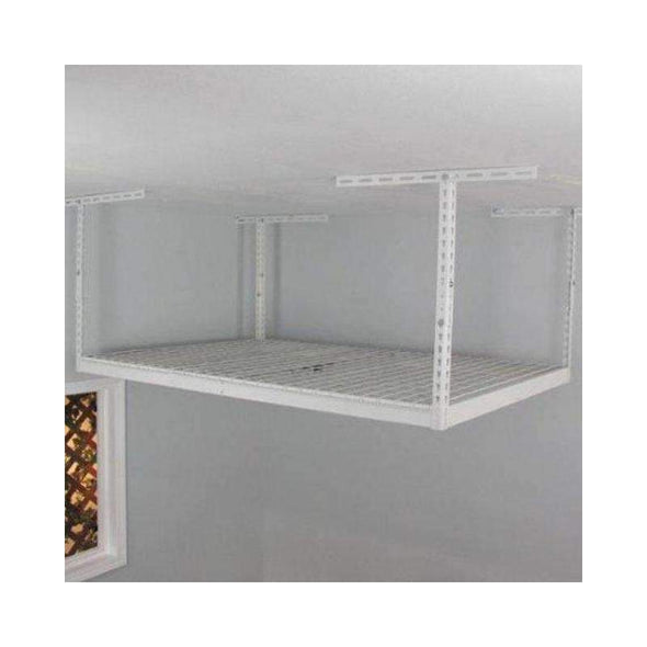Saferacks – 2×8 Overhead Garage Storage Rack – White - Senior.com Storage Racks
