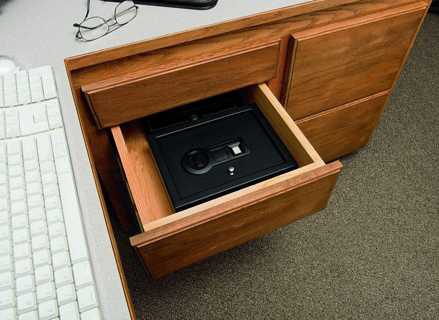 Stack On Personal Drawer Safe With Biometric Lock