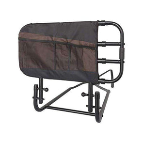 Stander EZ Adjust & Pivoting Adult Extending Bed Rail with Storage Pouch - Senior.com Bed Rails